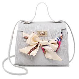 $enCountryForm.capitalKeyWord Australia - PU Leather Bow Messenger Bag Girl Casual Shopping Travel Crossbody Pouch Perfume Lipstick Shoulder Tote Accessories
