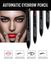 Shading Pen Australia - Four In One Multi-function Automatic Eyebrow Pencil Eye liner Lip Liner Pen Waterproof No Shading Long-lasting Sex Beauty