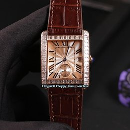 date strip NZ - Best Edition MC ET New 34mm W5330003 Rose Gold Dial Cal.1904-PS Automatic Mens Watch Strip Diamond Bezel Steel Case Leather Strap Watches