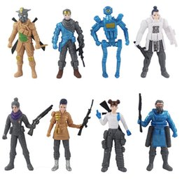 $enCountryForm.capitalKeyWord NZ - 8 pcs set APEX legends Action Figures Doll with Weapons 4.5 inches Apex Game Doll Collection toys for Kids