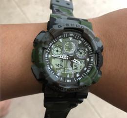 $enCountryForm.capitalKeyWord Australia - relogio classic men's sports watches, LED chronograph wristwatch, military top watch, g100 digital watch, good gift for men with box