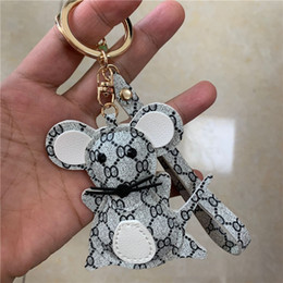 Mouse Design Keychains Cartoon Fashion Luxury Key Chain Accessories for Car Keys PU Leather Animal Keyrings Rings Holder Bag Charm Jewelry on Sale