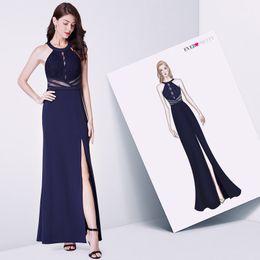 b3a6d73722 Ever Pretty Dresses UK - Navy Blue Evening Prom Dress Ever Pretty EP07390NB  Vestidos De Fiesta