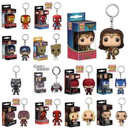 Funko Pop Toys 14 Diseños 5 cm Marvel Avenger Funko Pop Figuras de acción Llaveros de PVC Muñeca con caja de venta al por menor Juguetes para niños DHL SS29 en venta