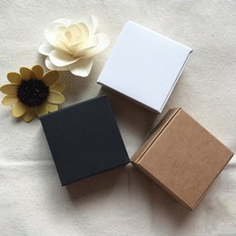 small kraft gift boxes NZ - 10pcs 10 sizes small gift paper kraft packaging box, black white paper cardboard gift boxes for packaging,paper boxfor packaging