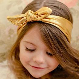 $enCountryForm.capitalKeyWord Australia - Baby Girl Toddler CUTE Bowknot Headband Hair Band Headwear Accessories 7 Colors Gold Silver Black Pink Blue Purple Red