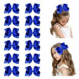 "$enCountryForm.capitalKeyWord Australia - 16pcs lot6"" Big Hand-made Grosgrain Ribbon Hair Bow Alligator Clips Hair Accessories for Little Teen Toddler Girls"