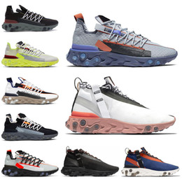 light platinum Australia - 2019 Arrival React Runner Mid Wr Ispa Men Women Running Shoes Ghost Aqua Platinum Volt Summit White Mens Trainer Fashion Sports Sneakers