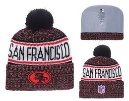 Knitted Cloche Australia - Men's San Francisco 49ers New Black Scarlet 2018 Sideline Cold Weather Official Sport Knit Hat 02
