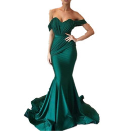 $enCountryForm.capitalKeyWord UK - Simple Cheap Mermaid Prom Dresses Off Shoulder Short Sleeves Ruffles Elegant Evening Dresses With Sashes Sweep Train Cocktail Party Gowns