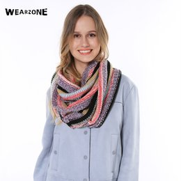 Winter Scarves Shawl NZ - Fashion Womens Warm Winter Knit Polychroism Crochet Infinity Ring Scarf Shawl Cowl Neck mixed colors Circle Cable snood scarf