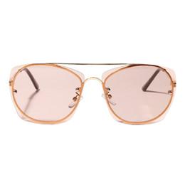 7353a403c60 Women Metal Rimless Square-shaped Frameless Eyeglass Festival Clear Colored  Lens Square Sunglasses Female Male Eyeglass UV400