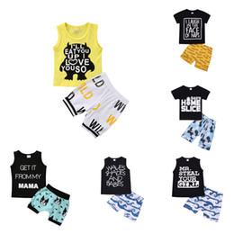 BaBies mama cartoon online shopping - Baby Boy Cartoon Set Letter MAMA Printed Tops Kids Designer Clothes Boys Cartoon Pants Kids Casual Wear Piece Set