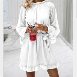 Womens long lace skirts online shopping - 2019 Fashion Womens Sexy Dress Lace Lotus Leaf Medium long Dress Fashion Party Backless Slim Soild Lace Dress Skirts Female Casual Dresses