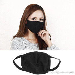 Vente en gros Masque facial anti-poussière noir anti-poussière unisexe et protection du nez masque facial anti-bactérien réutilisable Masque antibactérien pour hommes femmes