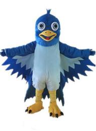 Wholesale cartoon hero costumes online – ideas 2019 new blue big mouth bird mascot costume EVA plush adult size cartoon clothing The legend of Condor Hero animal bird Halloween mascot