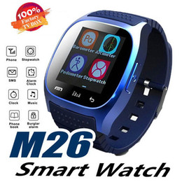 smart bluetooth watch smartwatch m26 NZ - Smart Bluetooth Watch Smartwatch M26 with LED Display Barometer Alitmeter Music Player Pedometer for Android IOS Mobile Phone with Box
