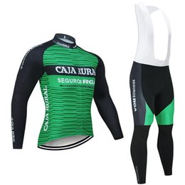 men jersey sets Australia - Winter 2020 CAJA RURAL TEAM Cycling JERSEY Bike Pants set men Ropa Ciclismo Thermal Fleece Long sleeve bicycling Maillot Culotte