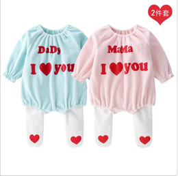 Color Hose Australia - new born romper 2019 spring new styles Baby kids 2 Pieces Silver fox velvet long sleeve pure color letter printing romper+panty-hose 2 sets