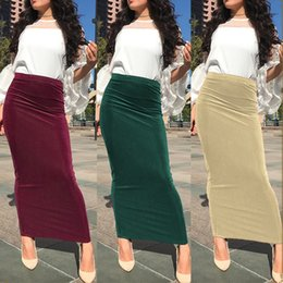 4ea56a1e7 2019 Summer Abaya Muslim Modest Skirts Islamitische Rokken Musulman Jupe  Musulmane Long Skirt Turkey Women Islamic Clothing
