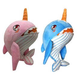 Wholesale animals song for sale – custom 2PCS Lovely Baby Soft Push Toy Stuffed Narwhal Shark Toy Can Sing Song Battery Operated Animals Toy Gifts