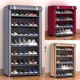 Wholesale 3 4 5 6 8 Layers Dustproof Assemble Shoes Rack DIY Home Furniture Non-woven Storage Shoe Shelf Hallway Cabinet Organizer Holder Y200429