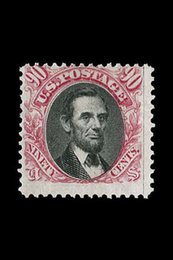 cartoon stamping Australia - Abraham Lincoln 90 Cent Stamp 1869 Valued at $200,000 Art Silk Print Poster 24x36inch(60x90cm) 088