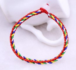 indian luck bracelet Australia - New Products Hot Sale Handwork Bracelet Multicolor Rope Hand knitted Bracelet Friendship Jewelry Children Hand Rope Good Luck 0949