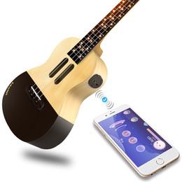 Großhandel Populele U1 23-Zoll-Smart-Konzert-Ukulele Uke-Kit unterstützt APP-Unterricht Bluetooth Verbindung ABS Griffbrett mit LED-Licht für Anfänger
