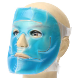 $enCountryForm.capitalKeyWord Australia - Cold Gel Face Mask Ice Compress Blue Full Face Cooling Mask Anti-Fatigue Contracting Relief Pad With Cold Pack Faical Care Tool