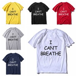 Wholesale designer mens shirts short sleeves online – design New I Cant Breathe T Shirt For Men Women Short Sleeves T shirt Clothes I CAN T BREATHE Printed Cotton Mens Top Tees S XXXL DBC BH3834