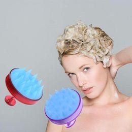 Fine black hair online shopping - 1pc Silicone Head Shampoo Scalp Massage Brush Hair Washing Scalp Cleanse Comb Deep Care Massage Scalp