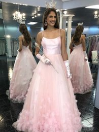 $enCountryForm.capitalKeyWord Australia - Beautiful Light Pink Princess Prom Dresses With Hand Made Flowers New 2019 Sexy Spaghetti Straps Long Sweet 16 Quinceanera Dress Cheap