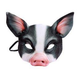 $enCountryForm.capitalKeyWord Australia - Wholesale New Style Pig Masks Halloween Creepy Animal Prop Latex Party Mask Unisex Scary Pig Head Mask Halloween Scary Mask Creepy Free Ship