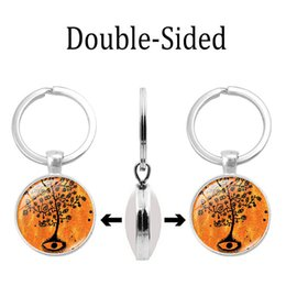 $enCountryForm.capitalKeyWord Australia - 2019 new creative keychain life ancient tree time gem double-sided keychain silver alloy key ring pendant jewelry wholesale