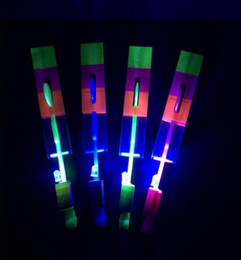 $enCountryForm.capitalKeyWord Australia - LED Arrow Helicopter LED Amazing Arrow Flying Helicopter Umbrella Kids Toys Space UFO LED Light Toys Christmas Halloween Flash Toys