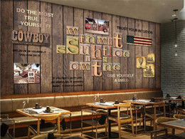 $enCountryForm.capitalKeyWord NZ - Nordic Wood English Letter Mural Coffee Shop Wallpaper Wall Art 3D Wall Paper for KTV Bar Restaurant Murals Contact Papers