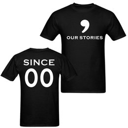 fa3d152fcf Our Stories Since Together Years Diy Couple Matching Custom T Shirts  Husband Wife Mothers Day Tees Wife Girlfriend Gift tee