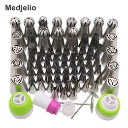 $enCountryForm.capitalKeyWord NZ - Medjelio 78Pcs Korea Icing Piping Pastry tips Russian Nozzles ball Globular Baking Tools free 2pcs Pastry Nail 4pcs couplers