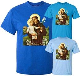 $enCountryForm.capitalKeyWord NZ - Saint Anthony Of Padua V2 (1195-1231) T-Shirt (Blue) All Sizes S-5Xl T-Shirt For Men Geek Custom Short Sleeve Plus Size Party T-Shirts