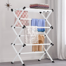 clothes floor hanger Canada - Standing Coat Rack Coat Wall Coat Rack Floor Bedroom Hanger Simple Clothes Shelf Household Folding Drying Rack Towel