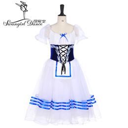 cef7e037f93 giselle blue white peasant ballet costume tutu professional ballet long tutu  ballerina romantic tutu Napoli ballet dress BT9238
