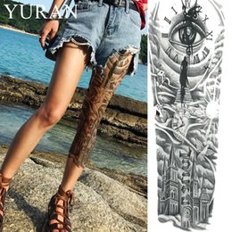 $enCountryForm.capitalKeyWord Australia - Black Clock Eye Water Transfer Tattoo Church Women Full Leg Art Sun Temporary Tattoo Sticker Sexy Men Shoulder Flash Tatoo Cloud