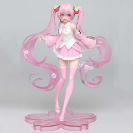 hot dolls japan Australia - Hot Sale 18cm Anime Pink Hatsune Miku Sakura PVC Action Figures Toys For Kids Children Christmas Gifts Doll