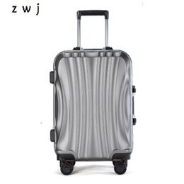 "24 inches luggage UK - PC Business Travel Rolling Luggage Aluminum Frame Alloy Spinner Wheels Airplane Suitcase Carry On Trolley Luggage 20"" 24"" Inch CJ191128"