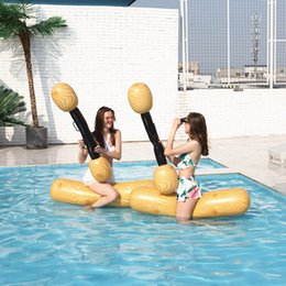 $enCountryForm.capitalKeyWord NZ - 2pcs set Joust Pool Float Game Water Sport Inflatable Swimming Pool Accessories Amusement toys For Kids Adult Gladiator Raft