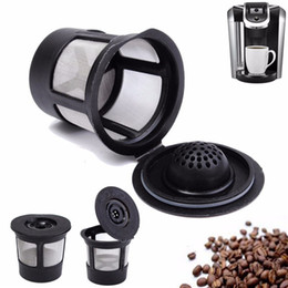 Eco pods online shopping - 3pcs set Reusable Refillable Coffee Filter Basket K Cups for Keurig Stainless Steel Mesh Compatible Pod System