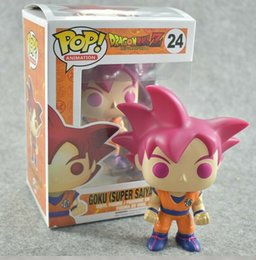 goku big toys Australia - Funko pop Dragon Ball Z GOKU Action Figure Doll Collection Model Toy #24 big sales for kids gift toys