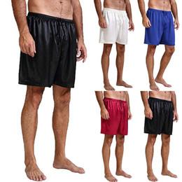 Wholesale man pajamas resale online - NEW Men Satin Pajamas Sleepwear Casual Sleep Lounge Shorts Nightwear Short Pants