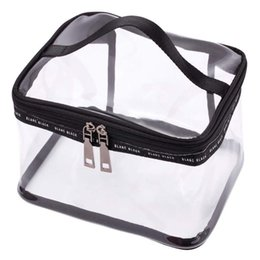 $enCountryForm.capitalKeyWord Australia - Black + transparent Travel Cosmetic Bag Makeup Train Case Organizer with Top Handle